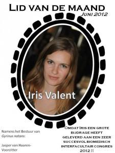 Lid van de maand - juni Iris Valent