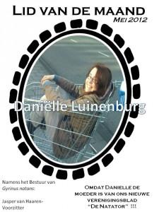 Lid van de maand - mei Danielle Luinenburg
