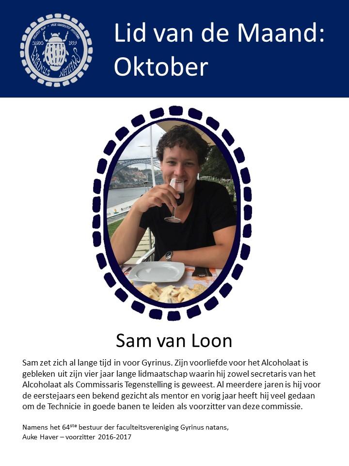 Lid van de maand Oktober
